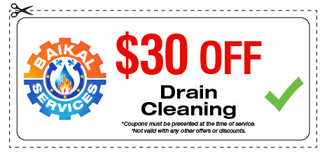 Baikal Services Coupons / Drain Cleaning Coupon