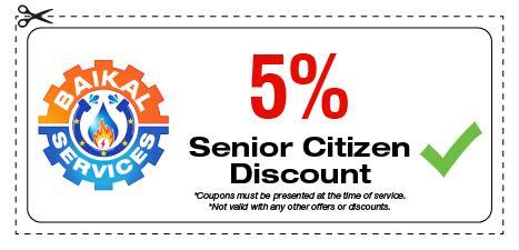 Baikal Services Coupons / Senior Citizen Discount Coupon